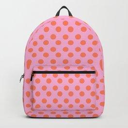 pink and orange polkadots Backpack