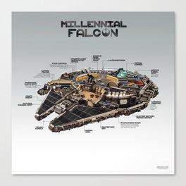 Millennial Falcon Canvas Print