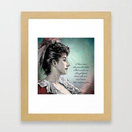 Poetry Girls: Gown Girl Framed Art Print