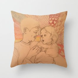 Kid's Surprise (Beige Collection) Throw Pillow