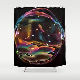 Galactic Bubble Shower Curtain