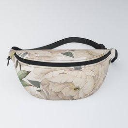Peonies Pattern Fanny Pack