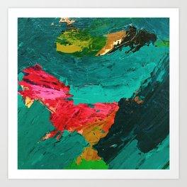 Abstract acrylic study 1.0 Art Print