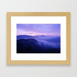 Mountain Road California Framed Art Print
