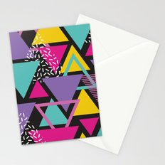 Back To The 80's Pattern Stationery Cards