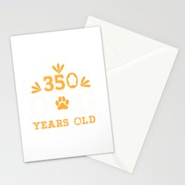 50th Birthday 350 Dog Years Fifty Gift Stationery Cards