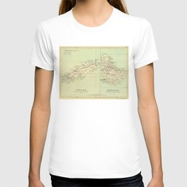 Vintage Map of Barbados and Tobago (1853) T-shirt