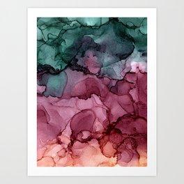 ombre Art Print