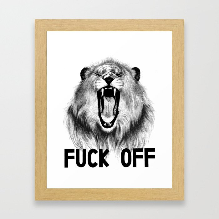 Fuck Off Framed Art Print