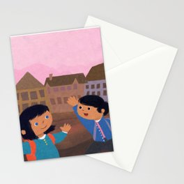 First Day of School Stationery Cards