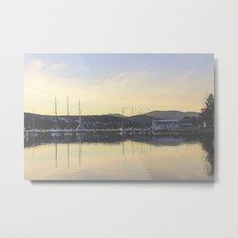 Marina Mountains Metal Print