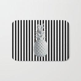 Black and White Anana | #society6 | Pineapple Bath Mat