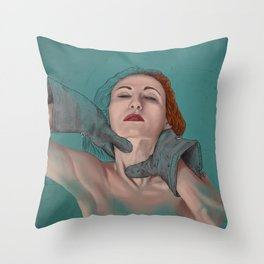Hard love - A woman disappears Throw Pillow