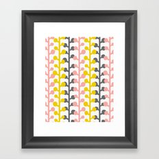 Sprig - Pink Lemonade Framed Art Print