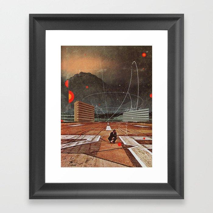 Tracing your Steps Framed Art Print