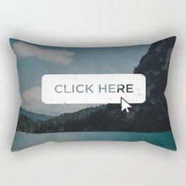 Click Here Button Rectangular Pillow