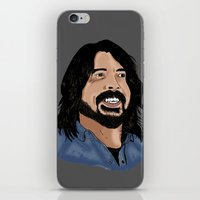 dave grohl iPhone & iPod Skins featuring Dave Grohl - Fan Art by Matty723