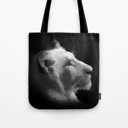 Wild White Lion Portrait Tote Bag