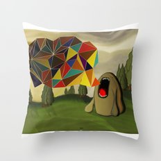 Diciendo Poligonos Throw Pillow