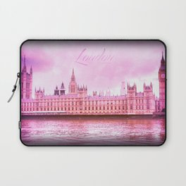 Big Ben over the Thames River Laptop Sleeve