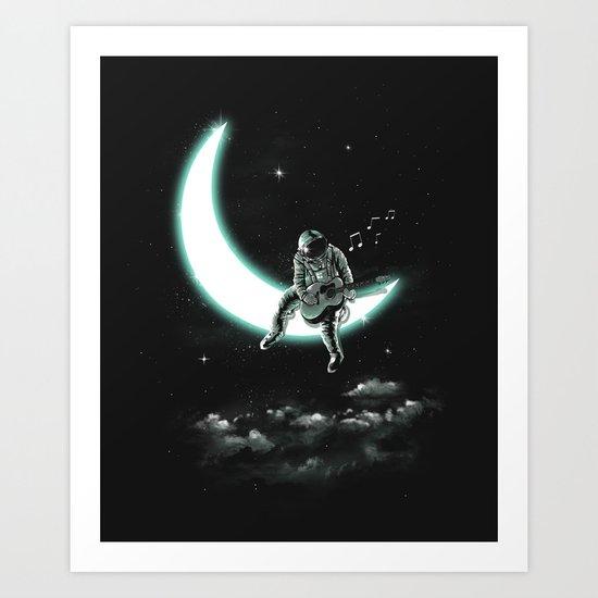 The Moon Song Art Print