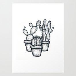 Mini Cactus Art Print