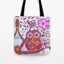 If Klimt Painted An Owl :) Owls are darling birds! Tote Bag
