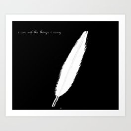 The Weight I Carry Art Print