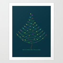 Christmas Tree Lights Art Print