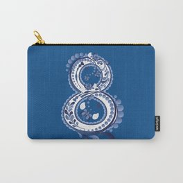Number eight with blue floral Carry-All Pouch
