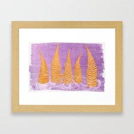 Fern leaves #4 Framed Art Print