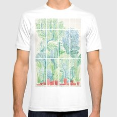 Winter in Glass Houses I White Mens Fitted Tee 2X-LARGE