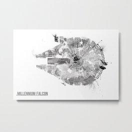 Star Wars Vehicle Millennium Falcon Metal Print