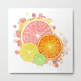 Burst of Citrus Metal Print