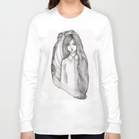 flora Long Sleeve T-shirts featuring Flora by Eszter Mezei
