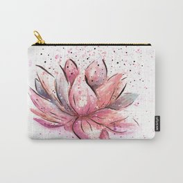 Lotus Flower Watercolor Art Carry-All Pouch