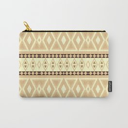 Fancy Tribal Pattern LEO, beige Carry-All Pouch