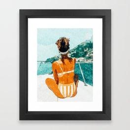 Solo Traveler Framed Art Print