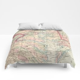 Vintage Map of The Chesapeake Bay (1875) Comforters