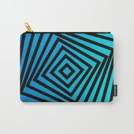 Squares twirling from the Center. Optical Illusion of Perspective bu Squares twirling Carry-All Pouch