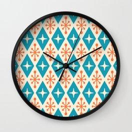 Mid Century Modern Atomic Triangle Pattern 107 Wall Clock