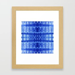 tie dye ancient resist-dyeing techniques Indigo blue textile abstract pattern Framed Art Print