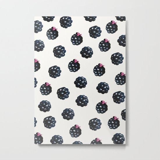 Blackberries pattern Metal Print
