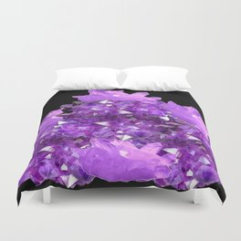 AWESOME PURPLE AMETHYST CRYSTAL CLUSTER Duvet Cover