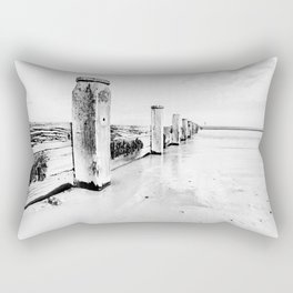 sea defence Redcar Rectangular Pillow