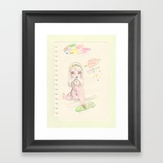 Waiting Here For You Framed Art Print
