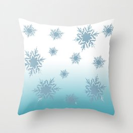 A Chilly Frozen Winter at Christmas Time in the Snow Throw Pillow