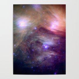 Galaxy : Pleiades Star Cluster NeBula Poster