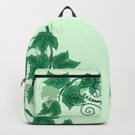 Abstract grapevine with frame from leaves Backpack