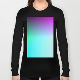 Six Color Ombre Cyan, Purple, Green, Pink, Purple, Blue, Spectrum Flame Texture  Long Sleeve T-shirt